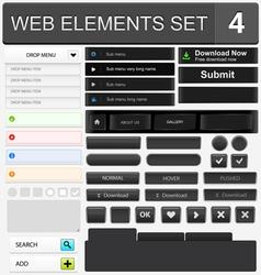 Web elements set 4 vector image vector image