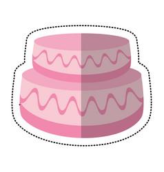wedding cake sweet image vector image