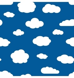 Blue sky and white clouds seamless pattern vector image vector image