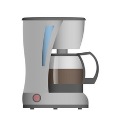 coffee machine isolated icon vector image vector image