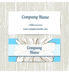 Hand Drawn Camomiles Business Cards vector image vector image
