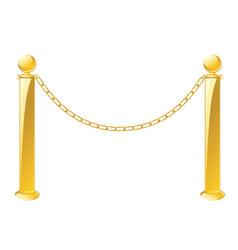 Metal barrier stand vector