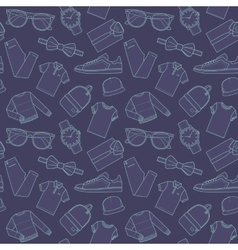 Seamless patterns of male for online store vector image vector image