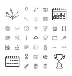 37 event icons vector