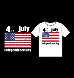 4th july independence day typography t-shirt vector