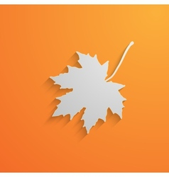 A paper 3d maple leaf with shadow autumn vector