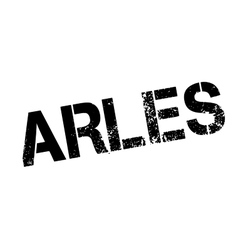 Arles rubber stamp vector