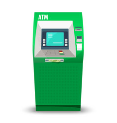 automatic teller machine isolated on white vector image