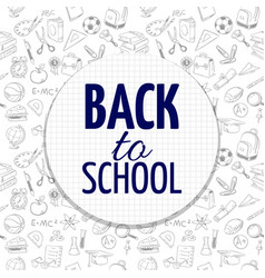 back to school banner design with hand drawn vector image