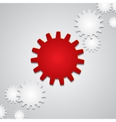 Background with paper gears vector image