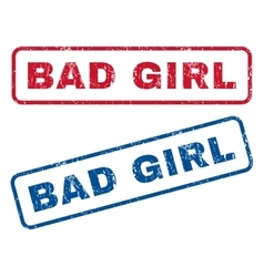 Bad Girl Rubber Stamps vector