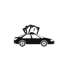 Car and banknotes icon simple style vector image