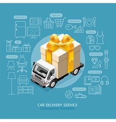 Car Delivery Service Conceptual vector