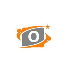 career coaching initial o vector image