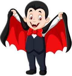 cartoon funny vampire isolated on white background vector image