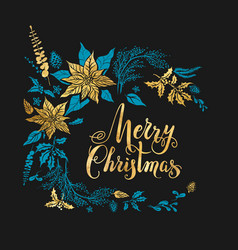 christmas dark design vector image