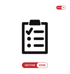 clipboard with list icon vector image