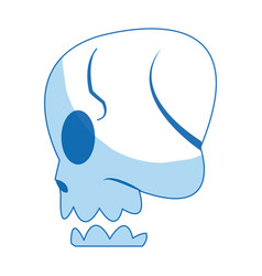 comic skull human side view image vector image