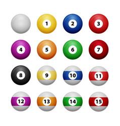 Complete billiard balls vector