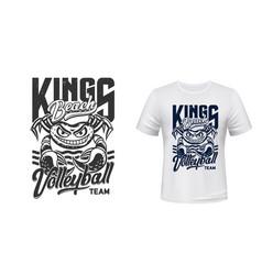 crab t-shirt print mockup volleyball sport club vector image