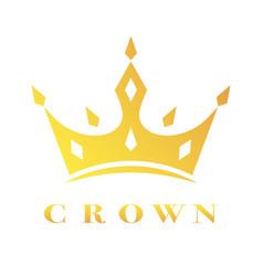Creative crown concept logo design template eps vector