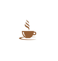 creative mug cup coffee logo design symbol vector image