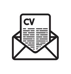 curriculum vitae vector image