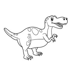 cute cartoon dinosaur tyrannosaurus character vector image