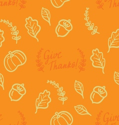 Cute vintage Thanksgiving Day card vector
