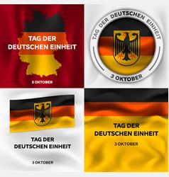 Deutschen einheit banner set isometric style vector