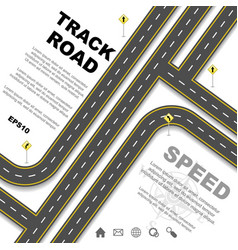 different road set background vector image