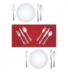 dinner set vector image