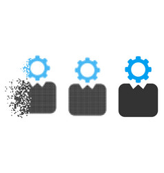 Disintegrating pixel halftone bureaucrat icon vector