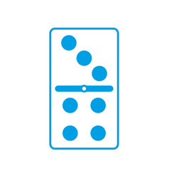 Domino piece icon vector