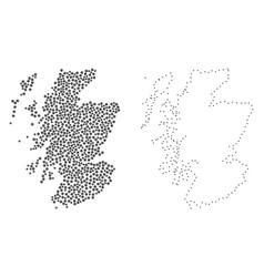 Dot contour map of scotland vector