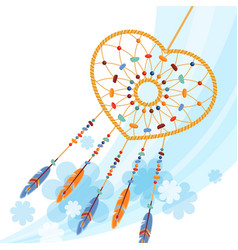 dream catcher handmade willow hoop on which woven vector image