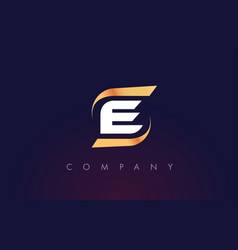 E letter logo design modern letter template vector