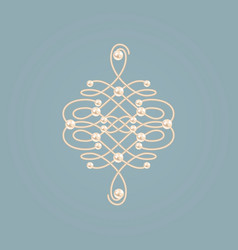 Elegant golden knot sign vector