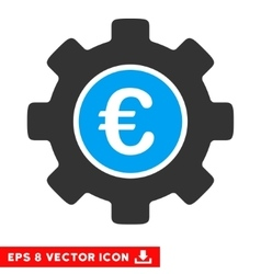 Euro Development Gear Eps Icon vector