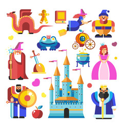fairy tale characters and creatures from vector image