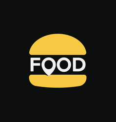 fast food location logo minimal stylized burger vector image