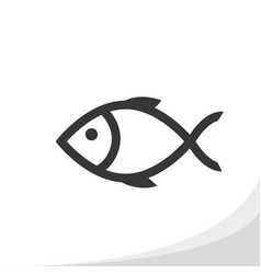 fish outline icon simple flat style vector image
