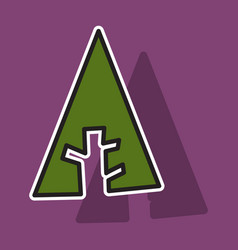 Forrest forrst newtork social tree icon isolated vector