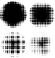 Four round dithering texture effects vector