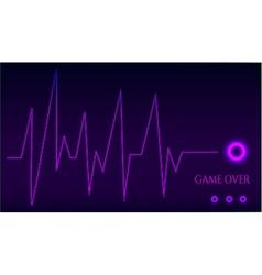 Game over - ekg graph vector