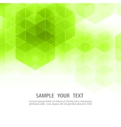 Geometric green abstract background Hexagon vector image