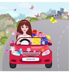 Gifting Girl Convertible vector image