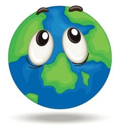 Globe face vector