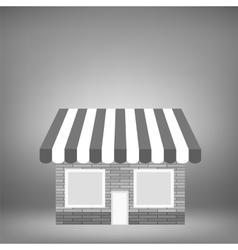 Grey Shop Icon vector