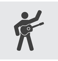 Guitarist icon vector